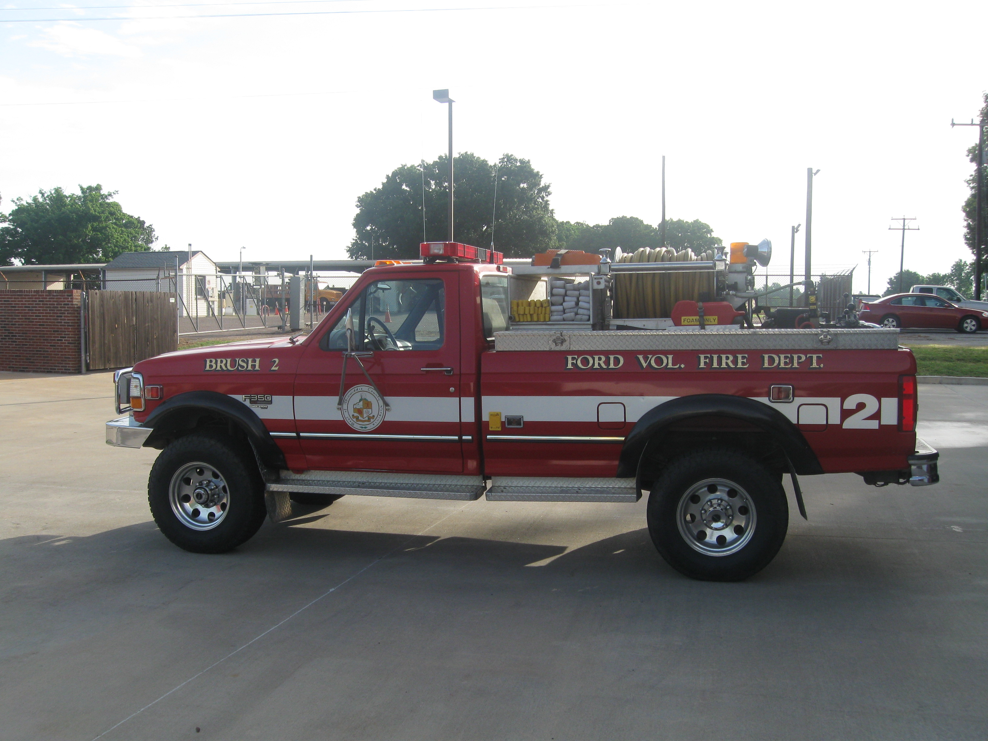 Red squad truck