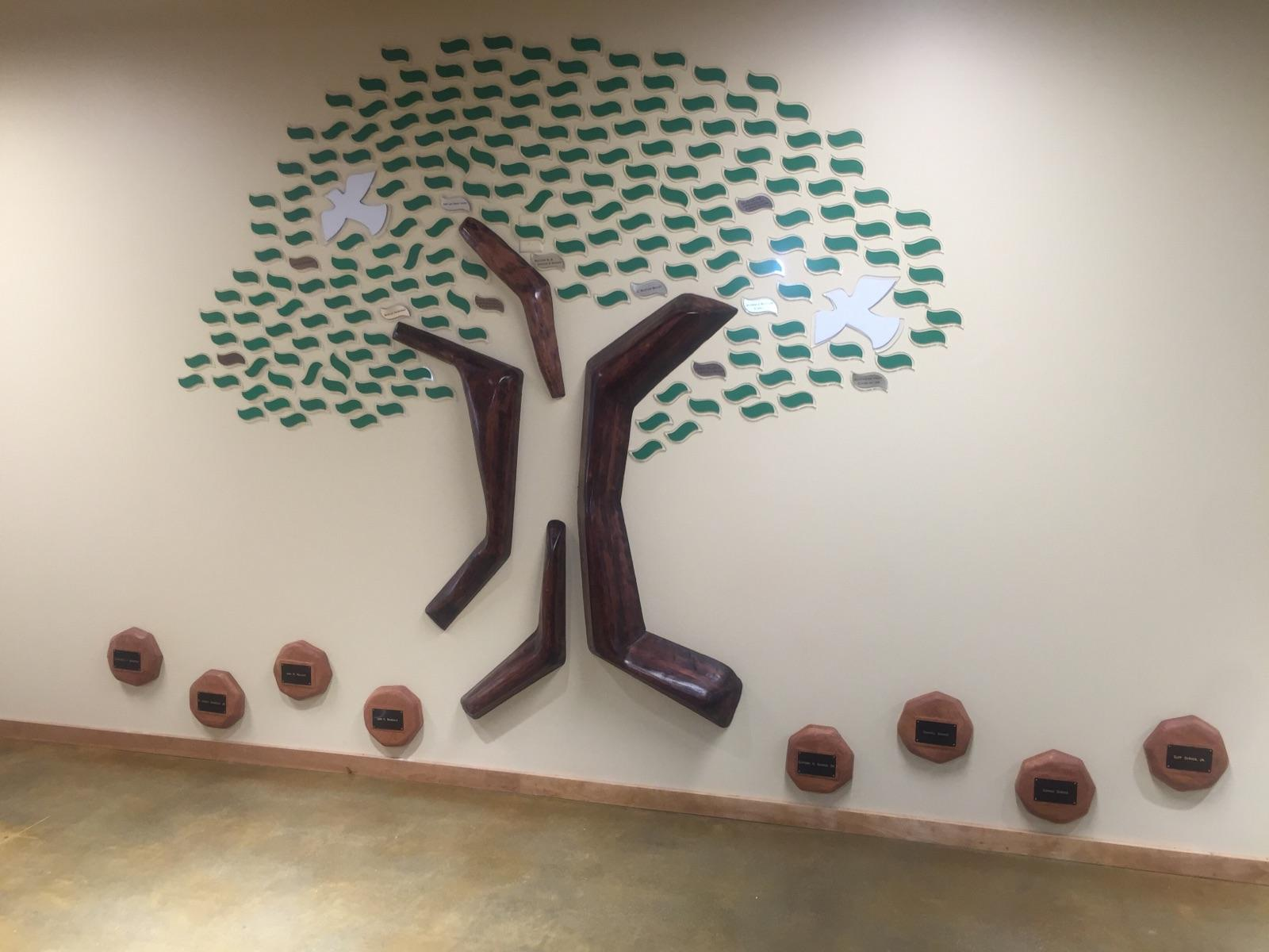 Donation Tree on a wall