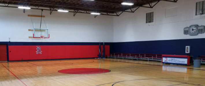 McKenney basketball gym with bleachers